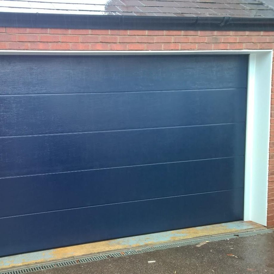 Le Meilleur Novoferm Iso 45 Sectional Flush Garage Door In Steel Blue Ce Mois Ci