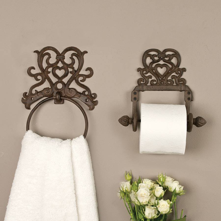 Le Meilleur Period Heart Iron Roll Holder And Towel Ring By Dibor Ce Mois Ci