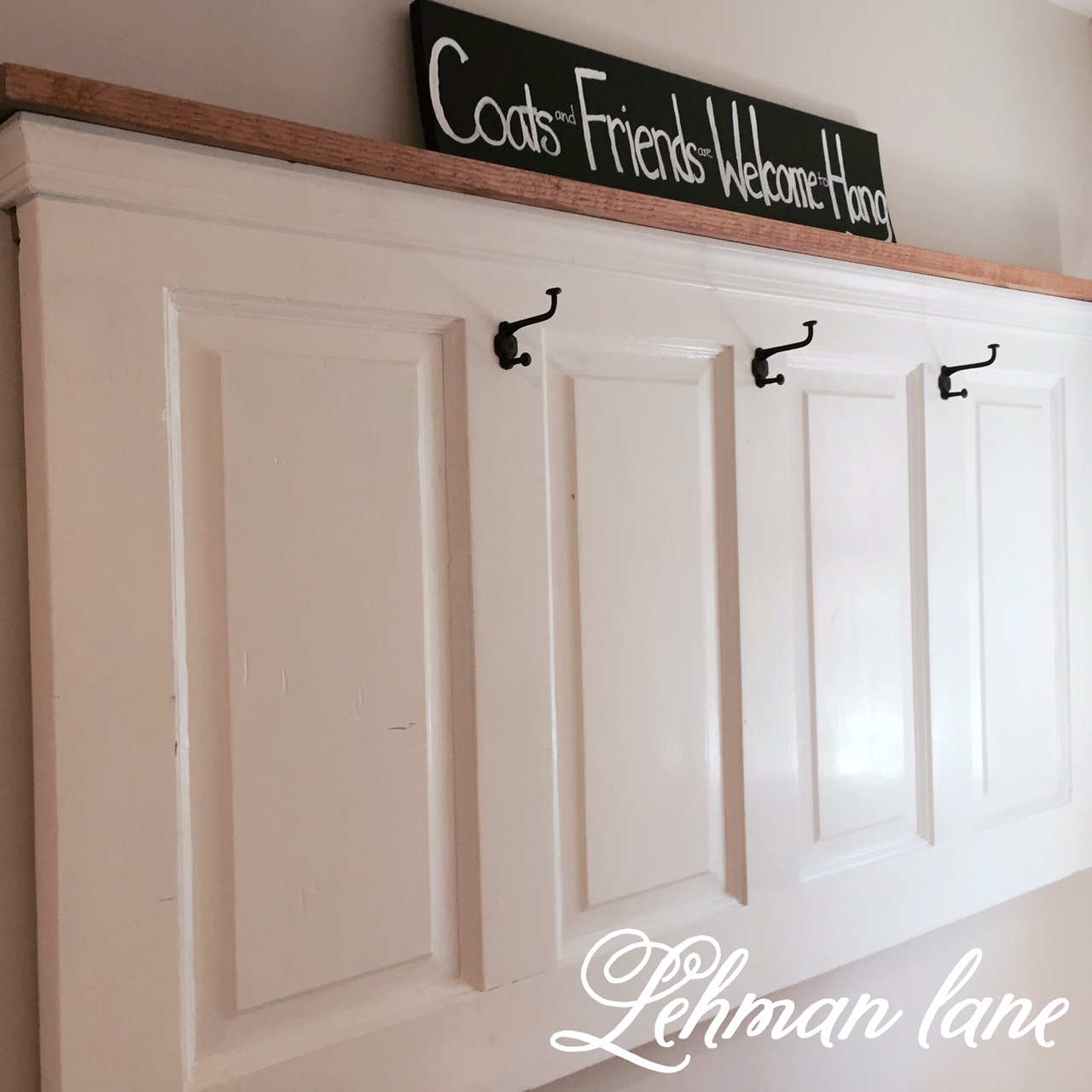Le Meilleur Diy Old Door Turned Coat Rack Lehman Lane Ce Mois Ci