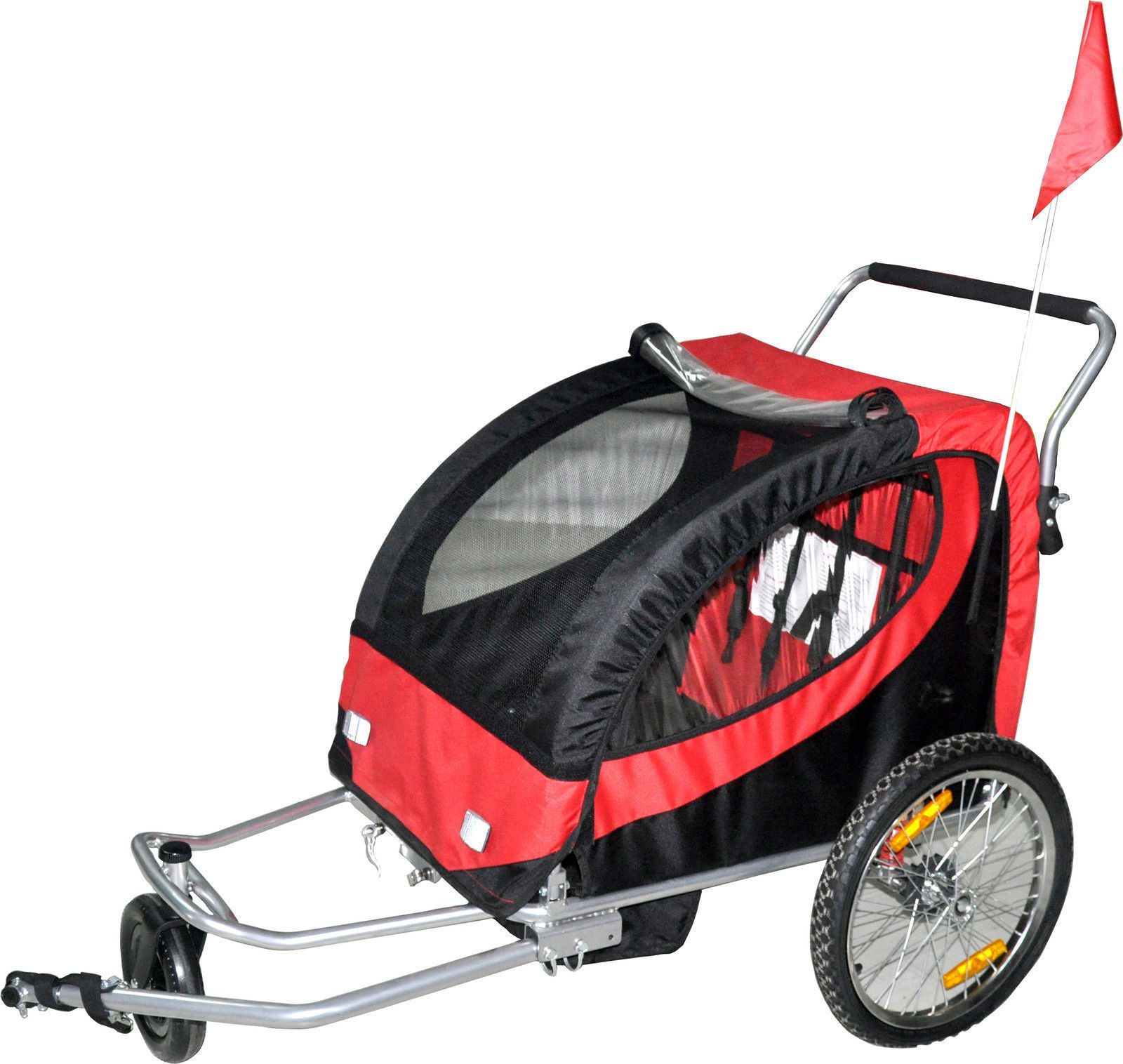 Le Meilleur Double Swivel Red 3In1 Bicycle Bike Trailer Baby Stroller Ce Mois Ci