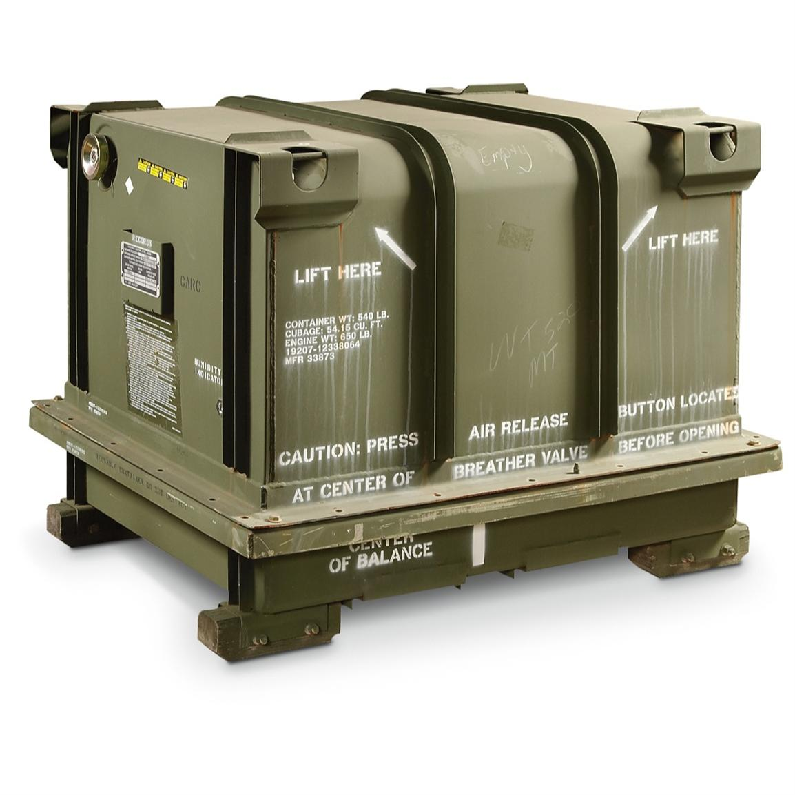 Le Meilleur New U S Military Engine Shipping Container Olive Drab Ce Mois Ci