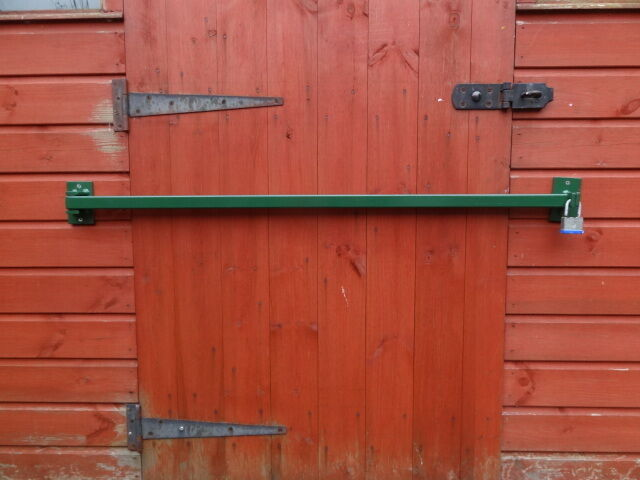 Le Meilleur Shed Door Security Bar Hinged 1100Mm Powder Coated Ebay Ce Mois Ci