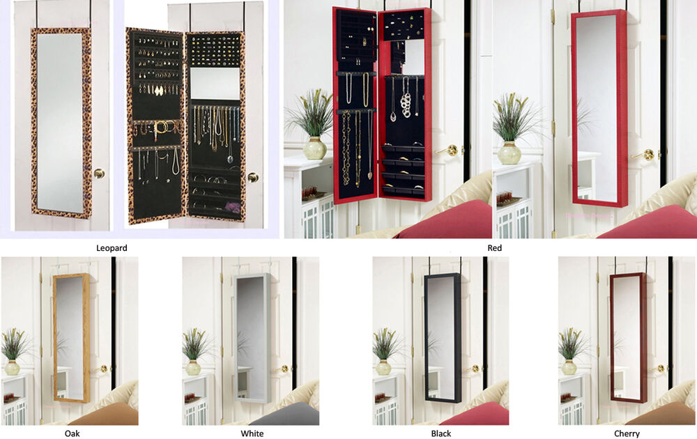Le Meilleur Jewelry Armoire With Dressing Mirror Door Hang Or Wall Ce Mois Ci