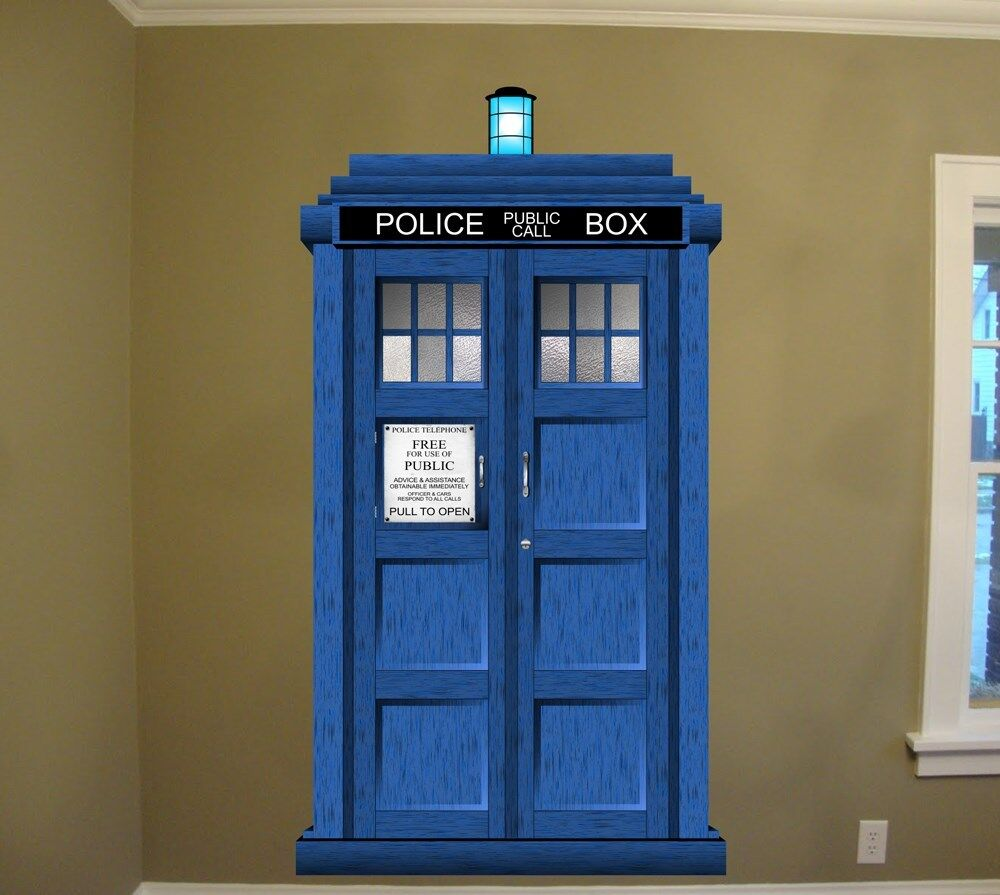 Le Meilleur Doctor Who Tardis Repositionable Large Wall Graphic 48 W Ce Mois Ci