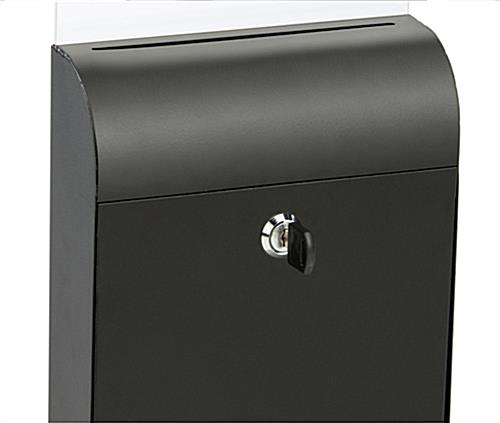 Le Meilleur Black Wall Mount Document Box Slide In Acrylic Sign Holder Ce Mois Ci