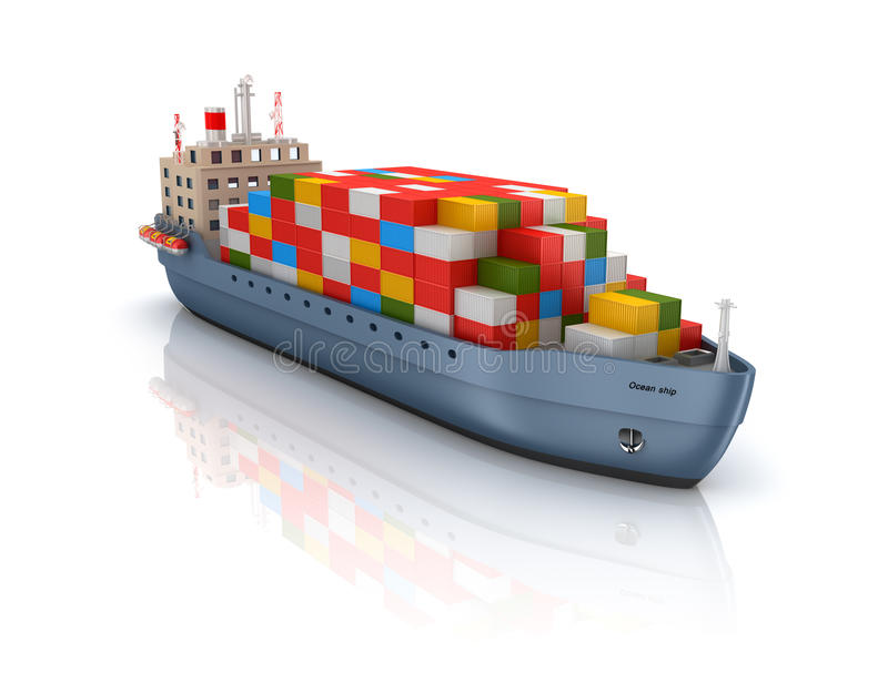 Le Meilleur Cargo Container Ship Stock Illustration Illustration Of Ce Mois Ci