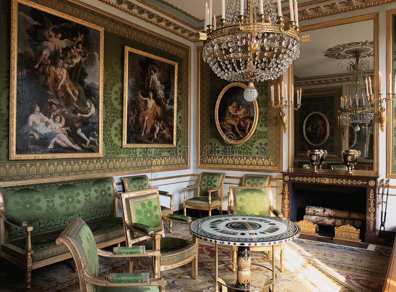 Le Meilleur Green Room With Furnitures And Paintings At Versailles Ce Mois Ci