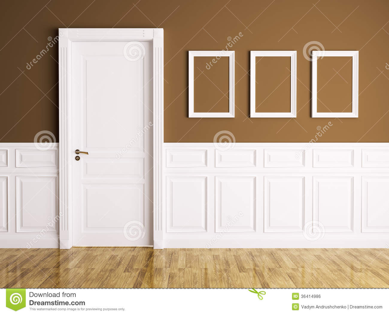Le Meilleur Interior With Door And Frames Stock Illustration Ce Mois Ci