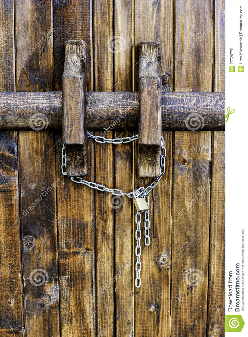 Le Meilleur Old Wooden Door And Lock Stock Image Image Of Wood Ce Mois Ci