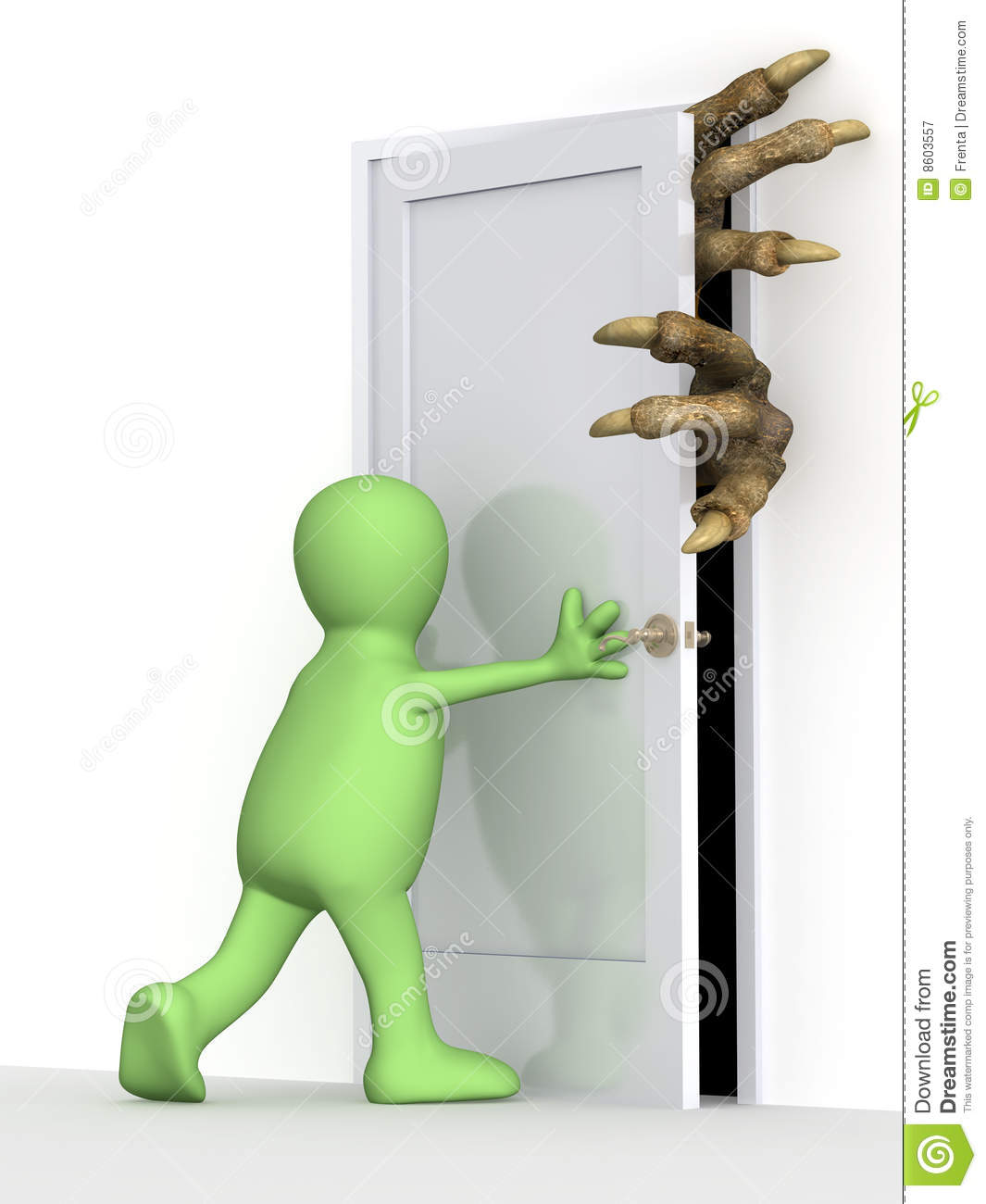 Le Meilleur Puppet Closing A Door Stock Illustration Illustration Of Ce Mois Ci