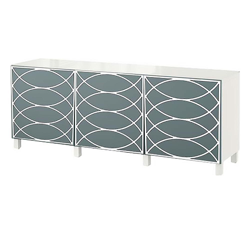 Le Meilleur O Verlays Cece Kit For Ikea Besta 3 Door Console Unit Ce Mois Ci
