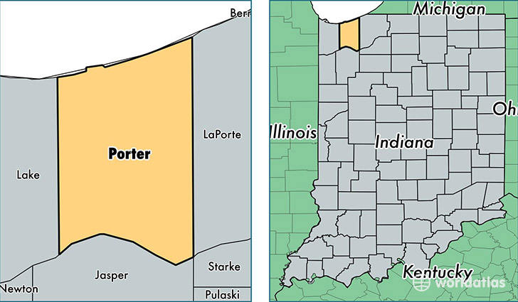 Le Meilleur Porter County Indiana Map Of Porter County In Where Ce Mois Ci