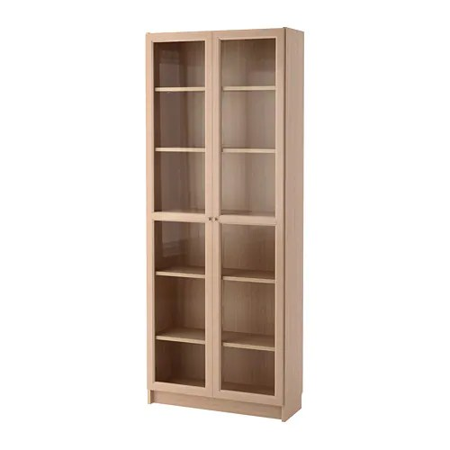 Le Meilleur Billy Oxberg Bookcase With Glass Door White Stained Ce Mois Ci