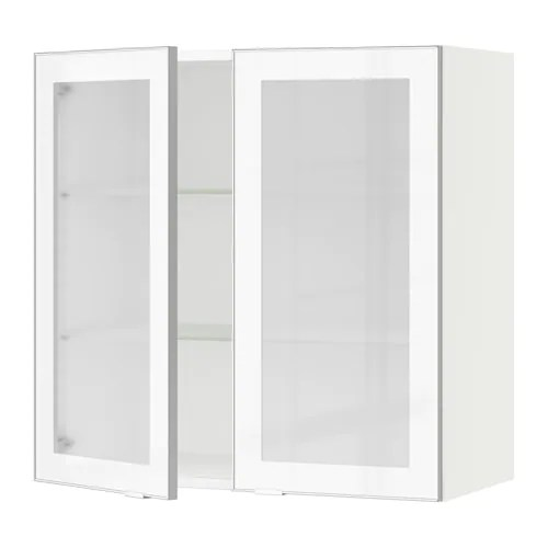 Le Meilleur Sektion Wall Cabinet With 2 Glass Doors Jutis Frosted Ce Mois Ci
