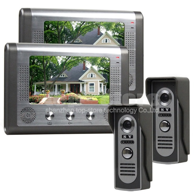 Le Meilleur Diysecur 2 Monitor 2 Camera 7 Inch Wired Video Door Phone Ce Mois Ci