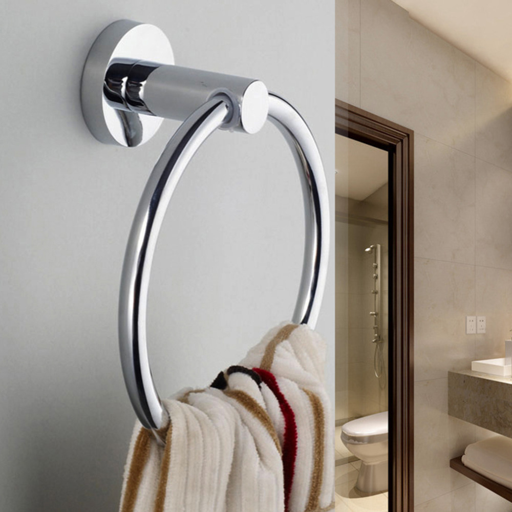 Le Meilleur Stainless Steel Round Style Wall Mounted Towel Ring Holder Ce Mois Ci