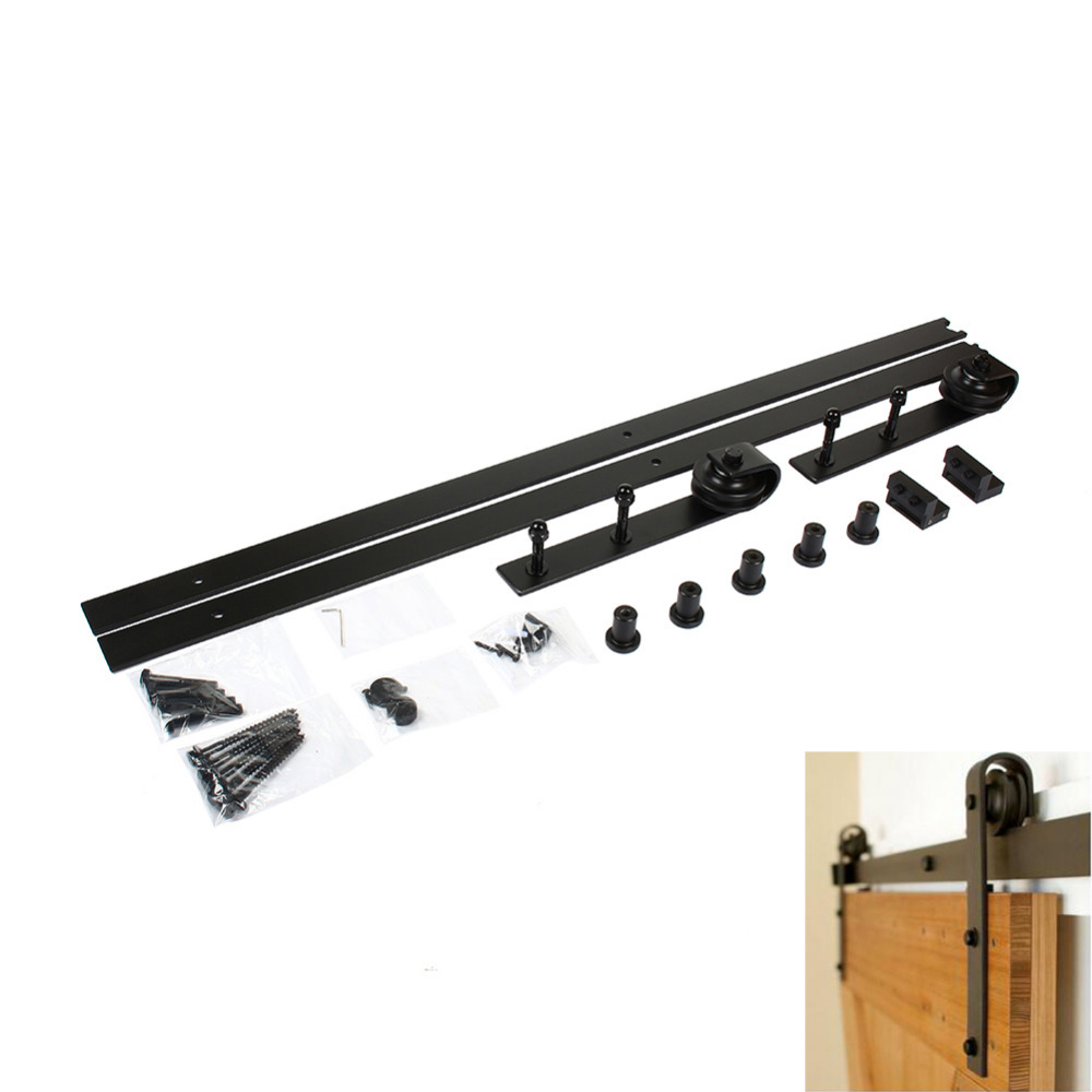 Le Meilleur Sliding Door Hanging Rail Wood Door Hardware Set Steel Ce Mois Ci
