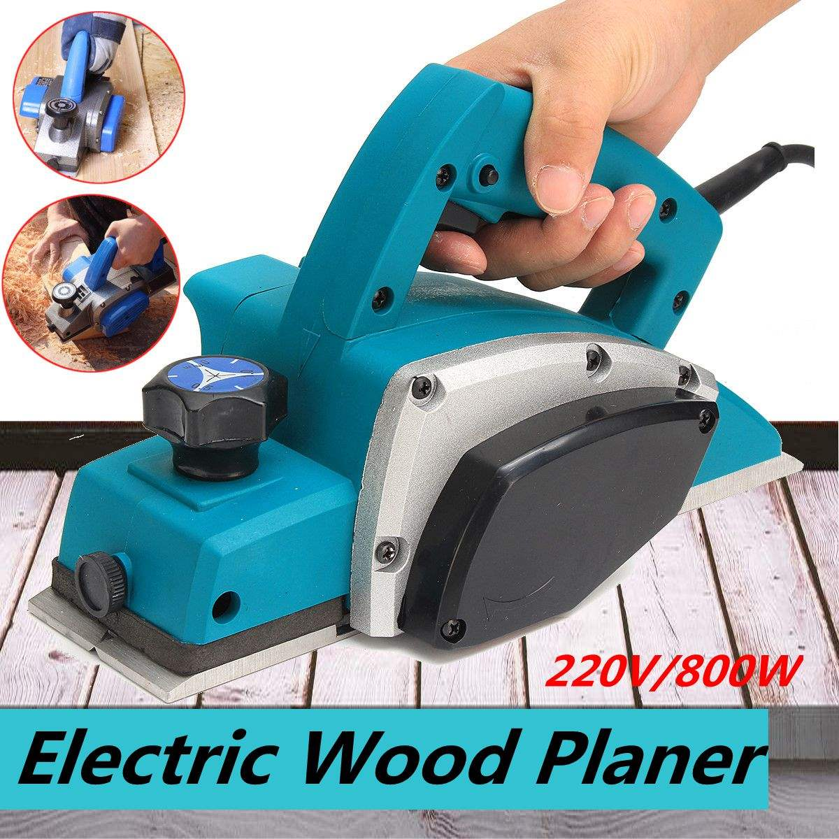 Le Meilleur Powerful Electric Wood Planer Door Plane Hand Held Heavy Ce Mois Ci