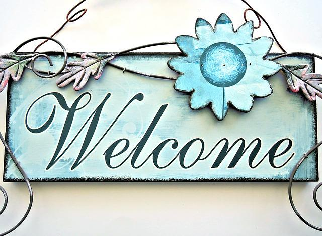 Le Meilleur Painted Door Sign Welcome Metalic · Free Photo On Pixabay Ce Mois Ci