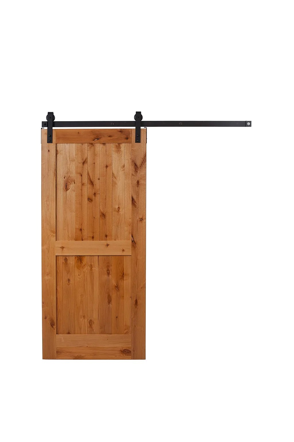 Le Meilleur Rustic Hardware Sliding 2 Panel Barn Door Clear Coat Ce Mois Ci
