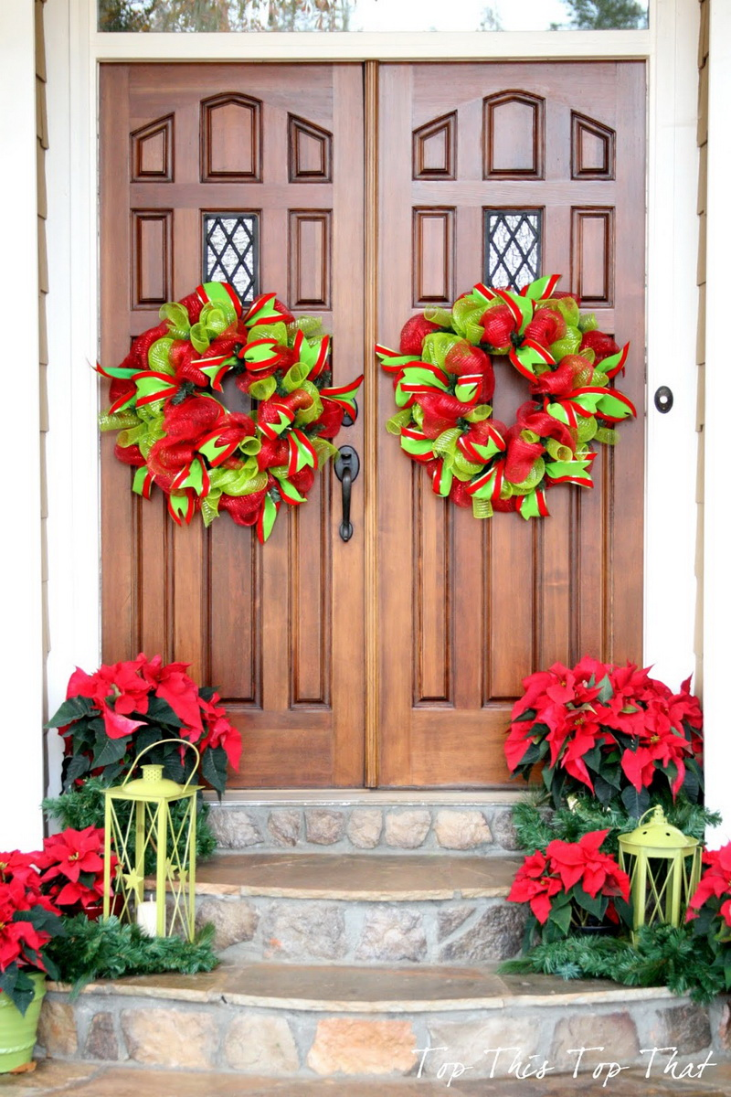 Le Meilleur 50 Best Christmas Door Decorations For 2017 Ce Mois Ci