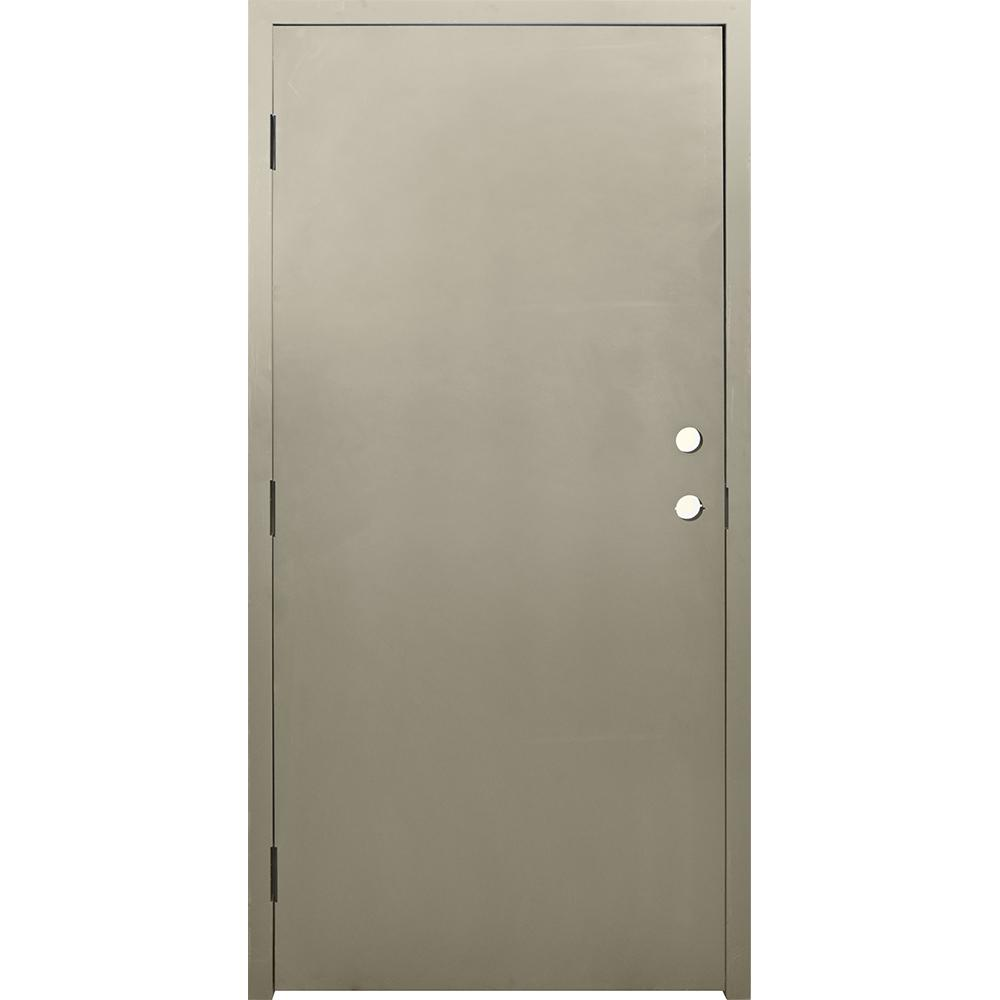 Le Meilleur Krosswood Doors 36 In X 80 In Dks Flush Primed Steel Ce Mois Ci