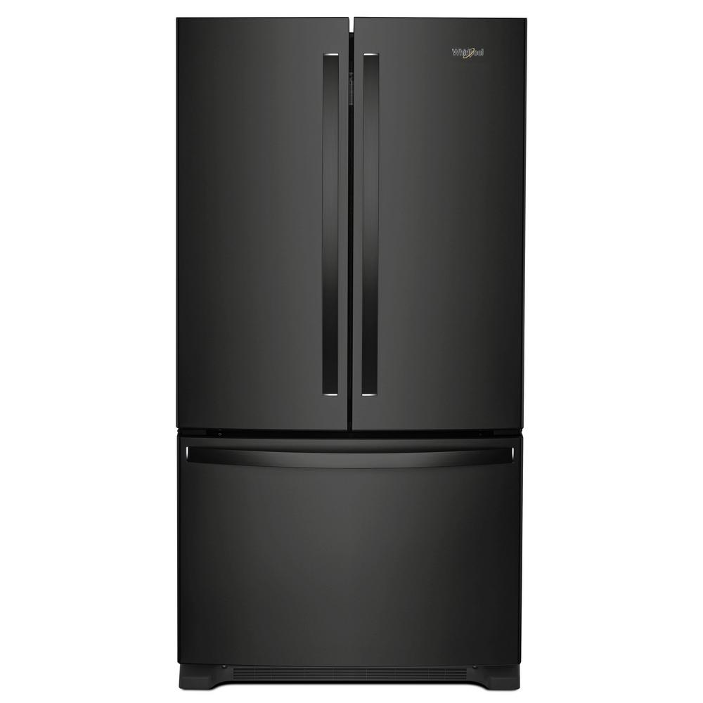 Le Meilleur Whirlpool 25 Cu Ft French Door Refrigerator In Black Ce Mois Ci