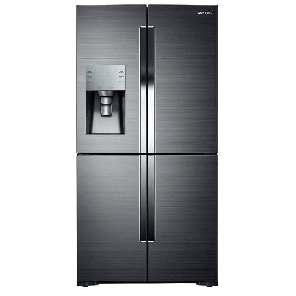Le Meilleur 35 75 In W 28 1 Cu Ft French Door Refrigerator In Black Ce Mois Ci