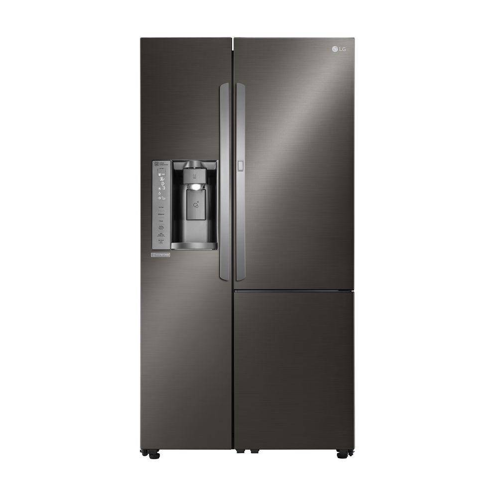 Le Meilleur Lg Electronics 26 1 Cu Ft Side By Side Refrigerator With Ce Mois Ci