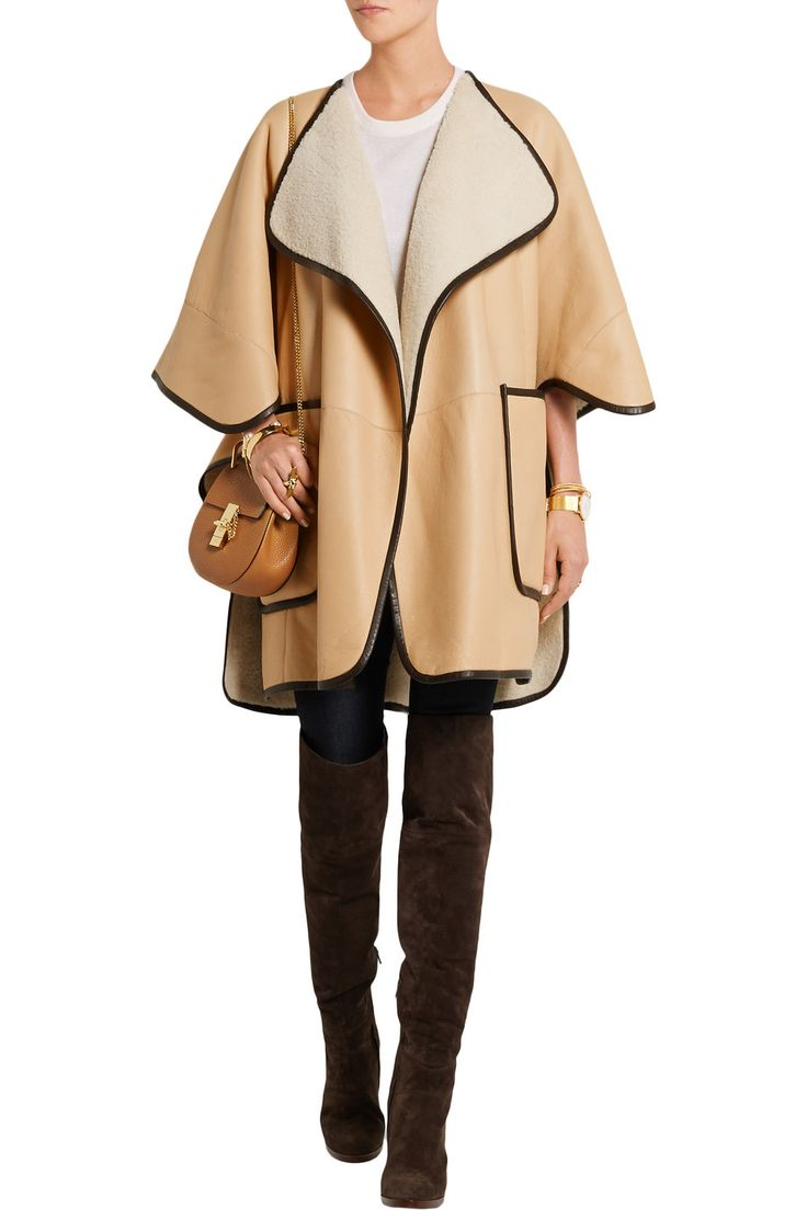 Le Meilleur Shop On Sale Chloé Shearling Cape Browse Other Discount Ce Mois Ci