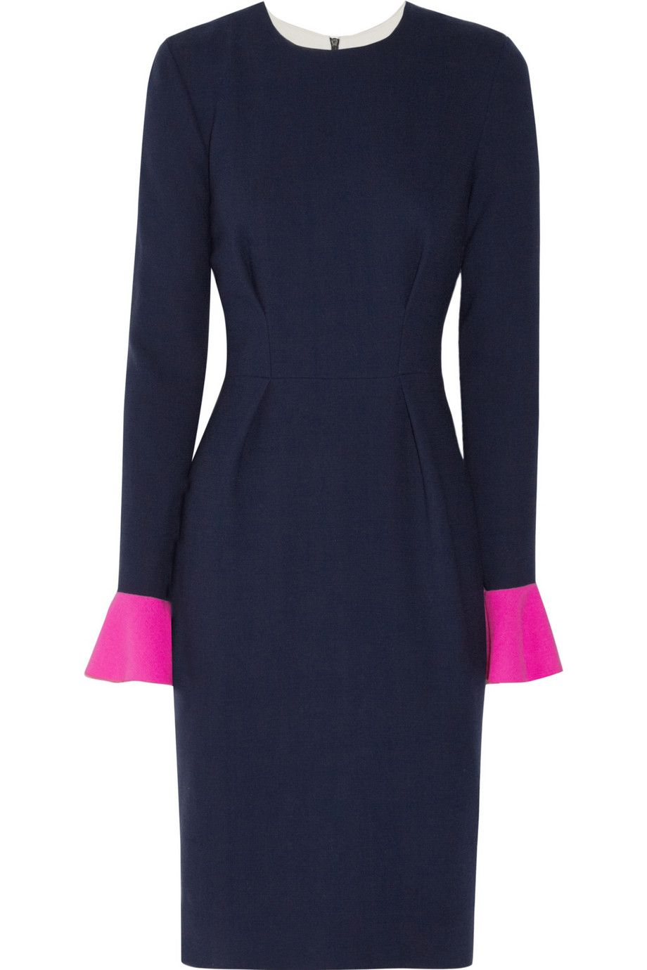 Le Meilleur Roksanda Ilincic Izumi Color Block Wool Crepe Dress Ce Mois Ci