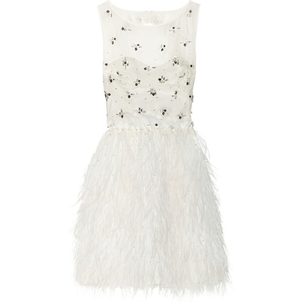 Le Meilleur Lela Rose Embellished Silk Organza Dress 3 495 Liked On Ce Mois Ci