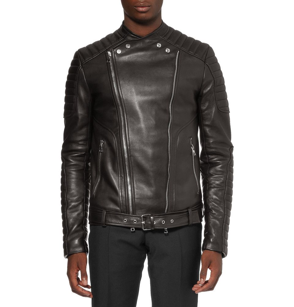 Le Meilleur Balmain Slim Fit Quilted Leather Biker Jacket Mr Porter Ce Mois Ci