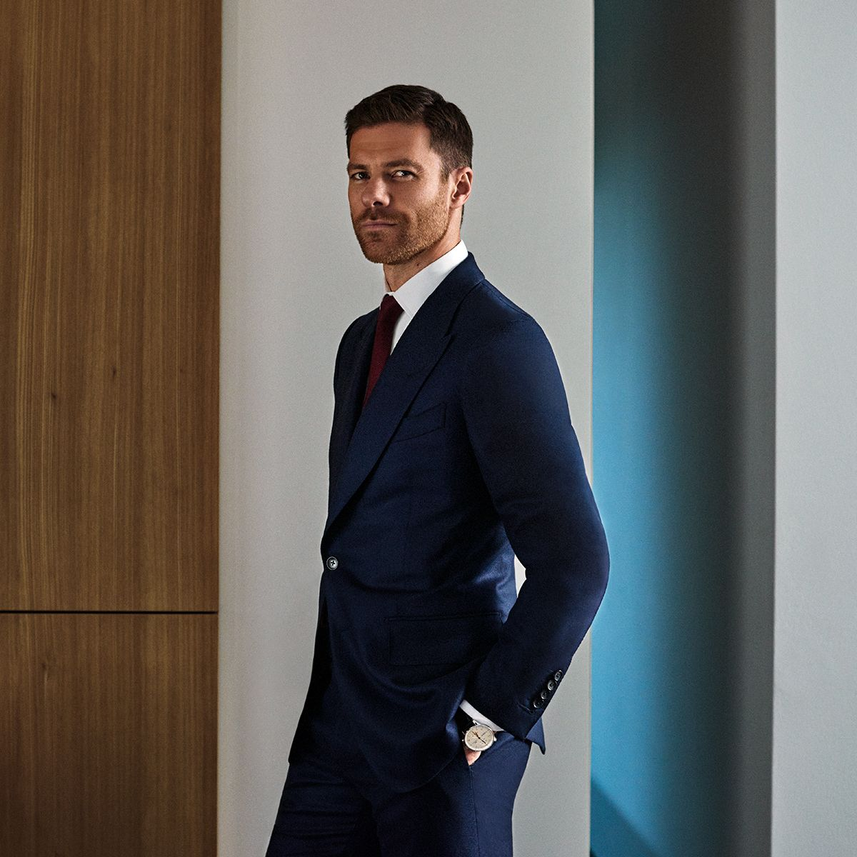 Le Meilleur Mr Xabi Alonso For Mr Porter Wearing Tom Ford Suit Jacket Ce Mois Ci