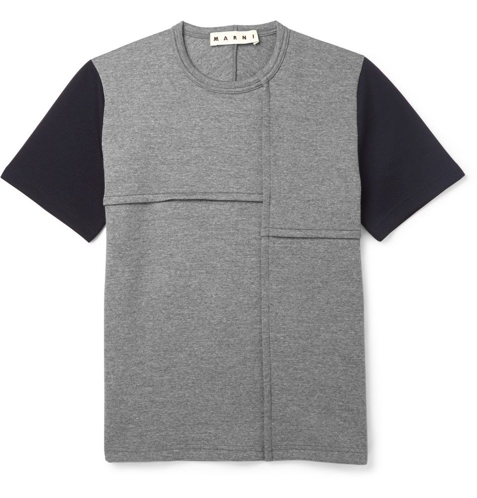 Le Meilleur Marni Two Tone Wool Blend Jersey T Shirt Mr Porter 男 Ce Mois Ci