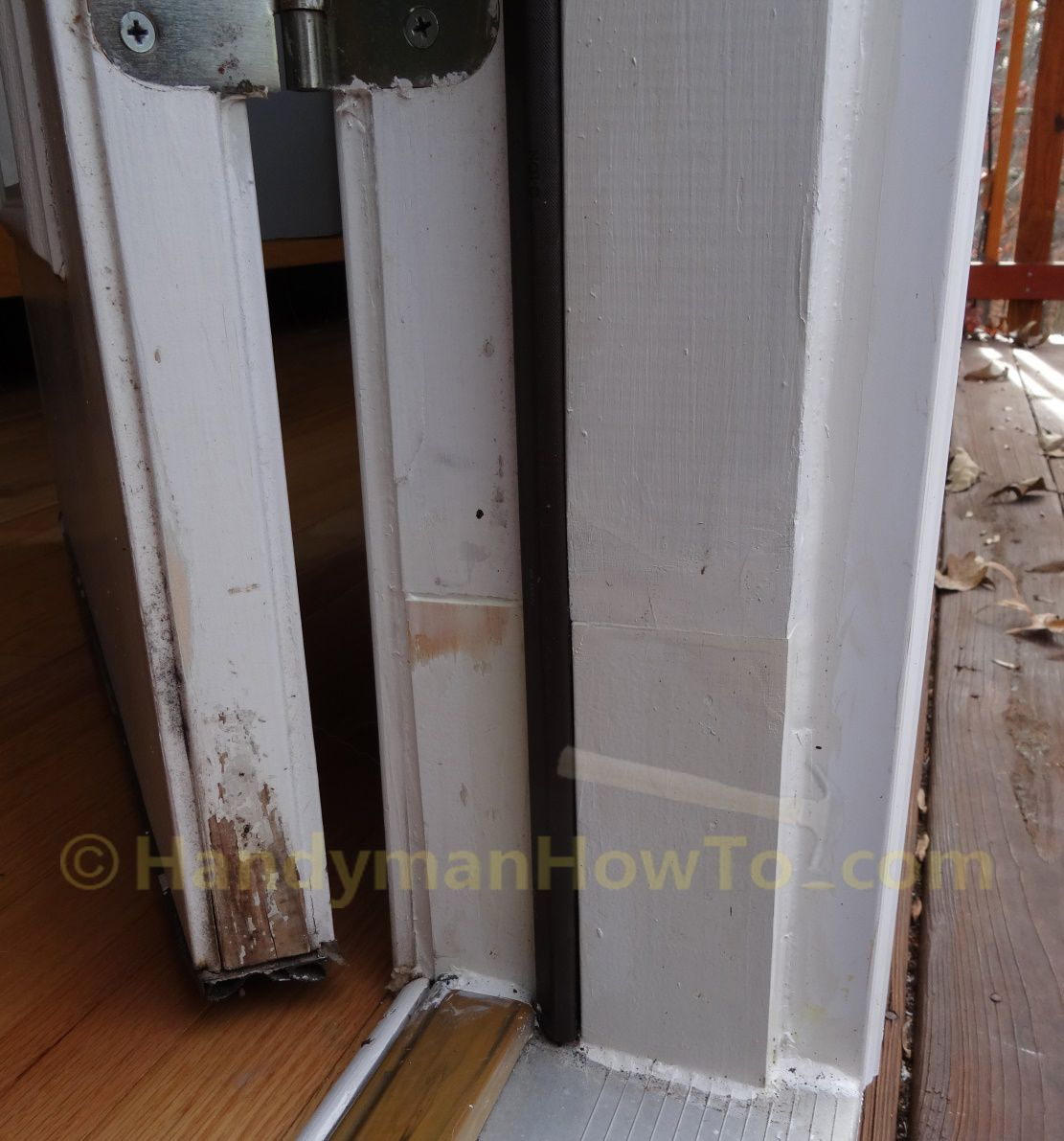 Le Meilleur Rotted Exterior Door Frame Repair Splice Section With Ce Mois Ci