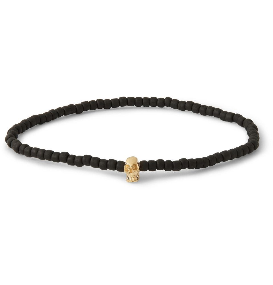 Le Meilleur Luis Morais Gold And Glass Bead Skull Bracelet Mr Porter Ce Mois Ci
