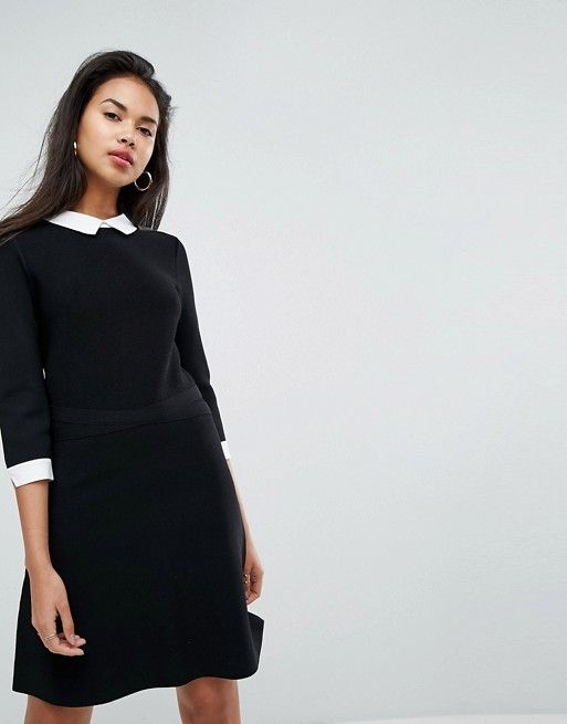 Le Meilleur Morgan 2 In 1 Knitted Skater Dress With Shirt Underlay Asos Ce Mois Ci
