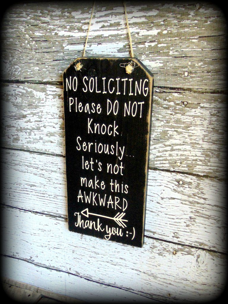 Le Meilleur Funny Front Door Sign No Soliciting Sign Custom Wooden Ce Mois Ci