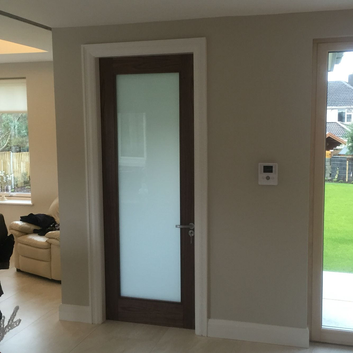 Le Meilleur Walnut Internal Door With Frosted Glass Versatility Of Ce Mois Ci