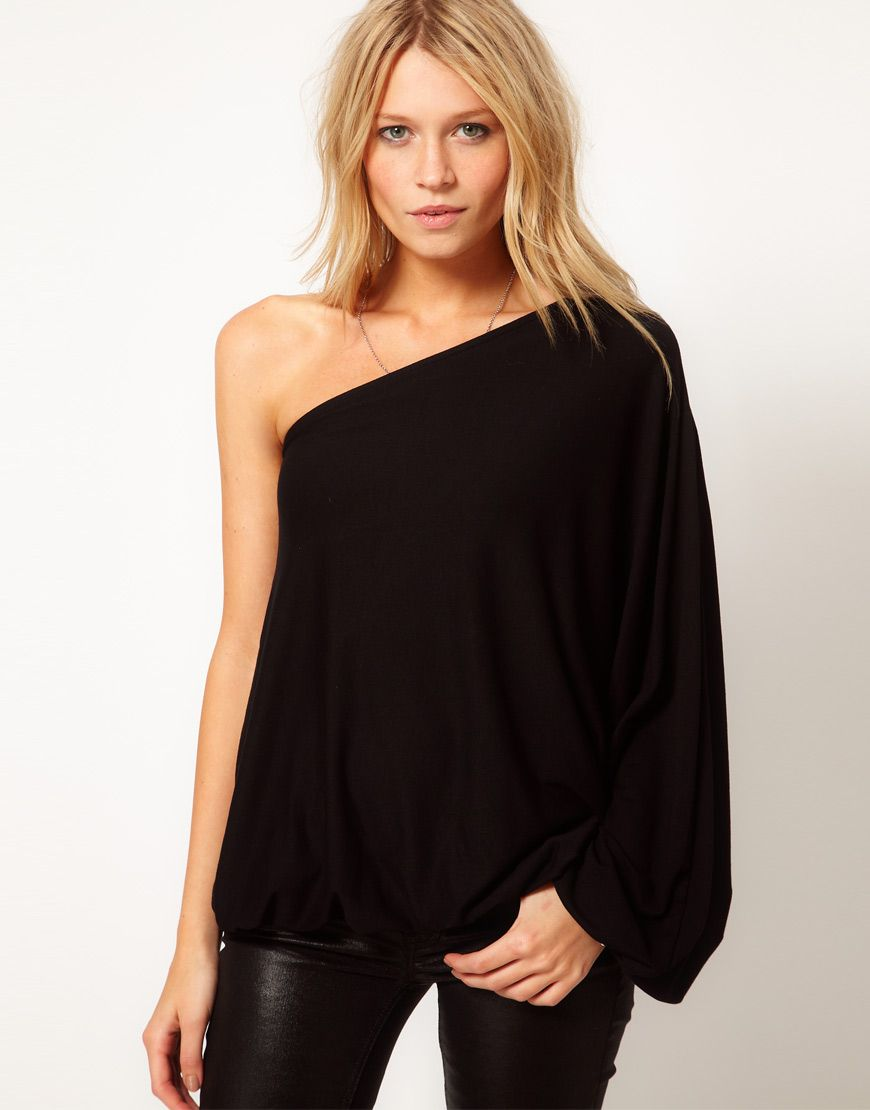 Le Meilleur Asos Top With One Shoulder Volume Sleeve Under 50 Ce Mois Ci