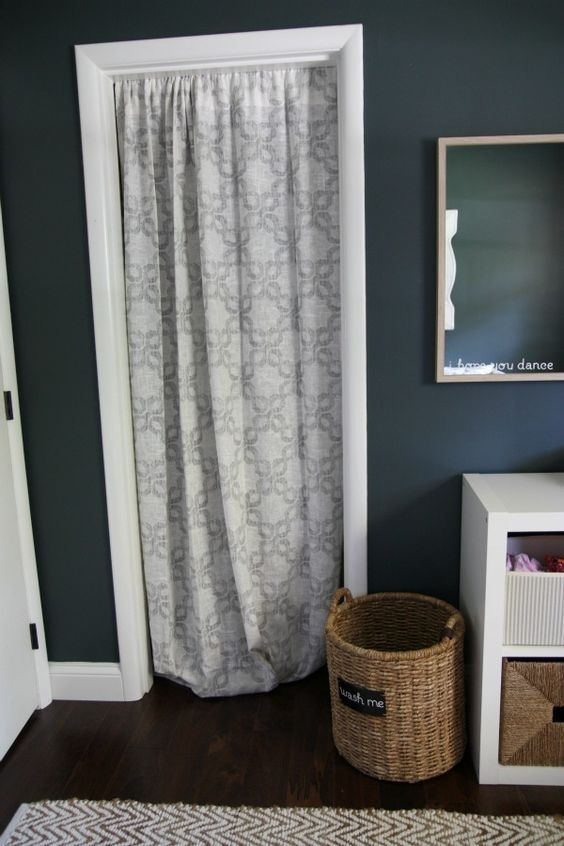 Le Meilleur Curtain Instead Of Closet Door I Love This Because All 5 Ce Mois Ci