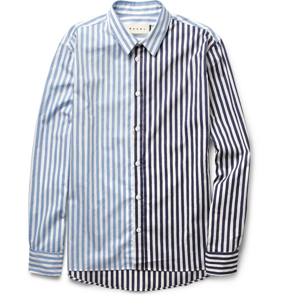 Le Meilleur Marni Striped Cotton Shirt Mr Porter P I C K S Ce Mois Ci