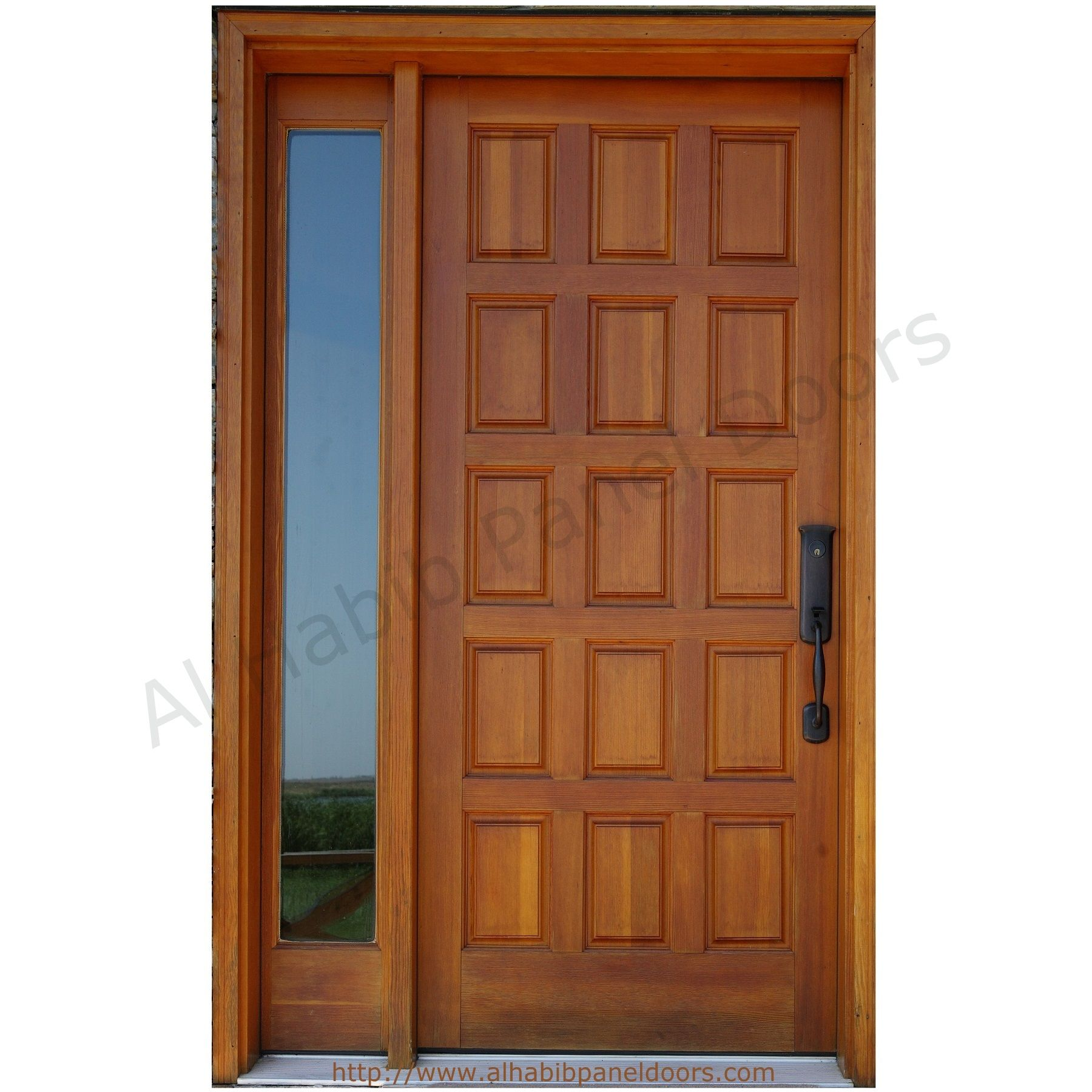 Le Meilleur Solid Wooden Panel Door With Frame Hpd427 Solid Wood Ce Mois Ci