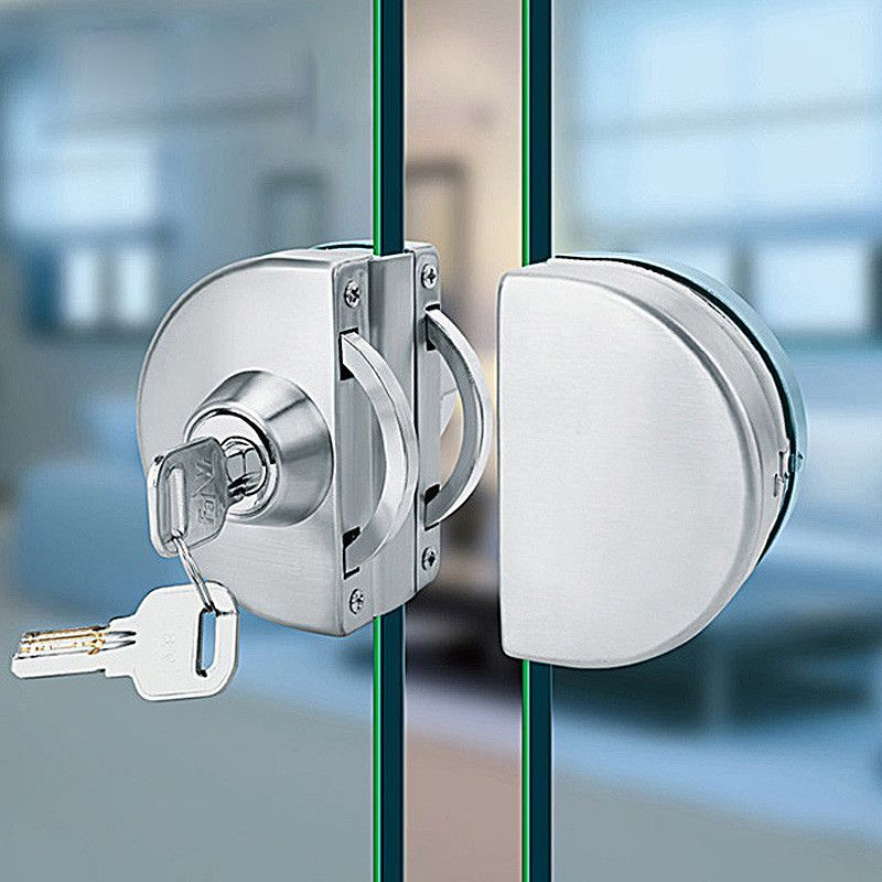Le Meilleur Buy No Punch Glass Door Lock Frameless Glass Door Framed Ce Mois Ci