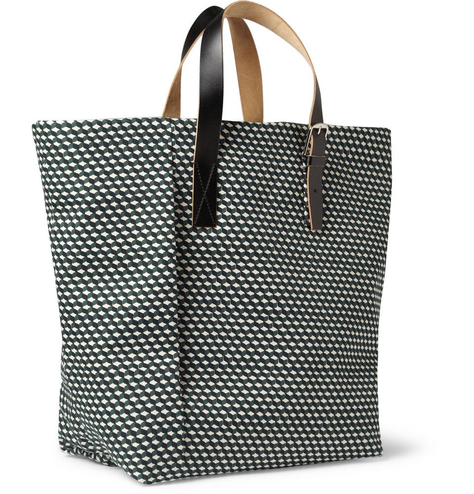 Le Meilleur Marni Printed Canvas Tote Bag Mr Porter 770 Dapper Ce Mois Ci