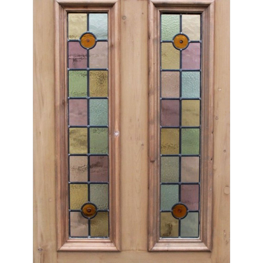 Le Meilleur 4 Panel Bullseye Stained Glass Door Period Home Style Ce Mois Ci