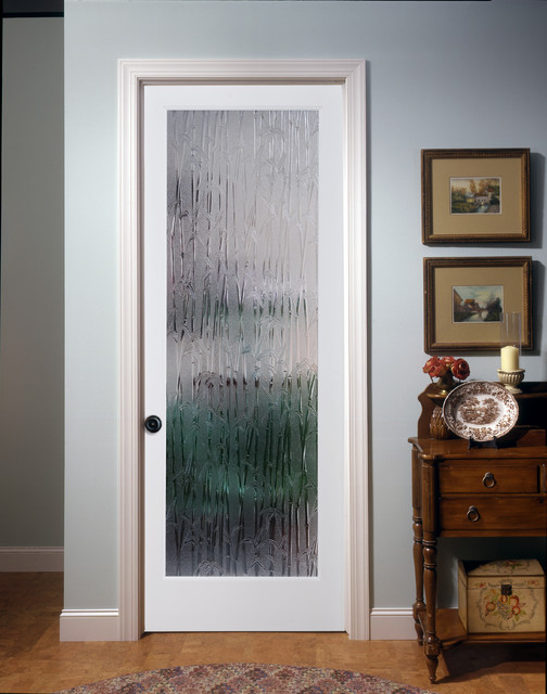 Le Meilleur Bamboo Decorative Glass Interior Door Family Room Ce Mois Ci