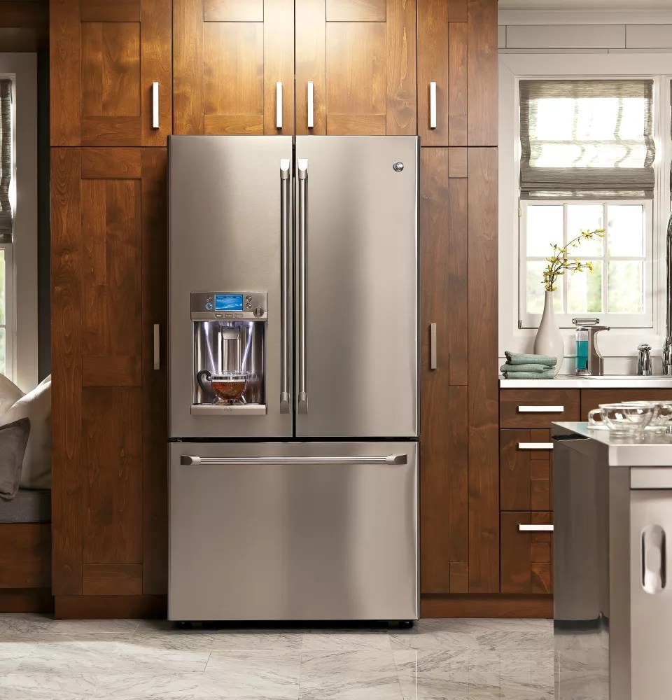 Le Meilleur Cafe Cfe28Tshss 36 Inch French Door Refrigerator With Lcd Ce Mois Ci