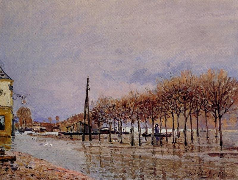 Le Meilleur Flood At Port Marly 1872 Alfred Sisley Wikiart Org Ce Mois Ci